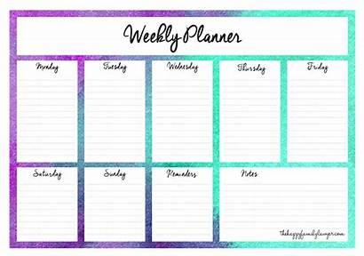 Planner Weekly Printable Planners Week Template Calendar