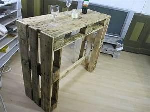 Stehtisch Selber Bauen : weiteres palettenm bel stehtisch theke tisch ein ~ Lizthompson.info Haus und Dekorationen