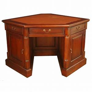 Small Corner Desk (Mahogany) • AKD Furniture
