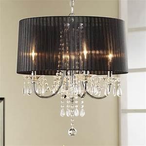 Black four light shade chandelier modern chandeliers