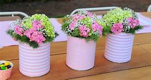 20 tin can craft ideas - flower vases and plant pots