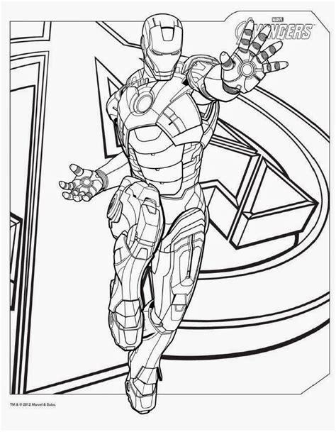mewarnai gambar mewarna gambar avenger ironman