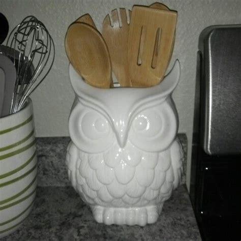 Owl utensil holder   Kitchen Ideas   Pinterest   Utensil