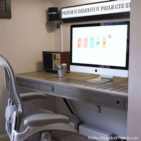 floating office desk floating desk build hometalk