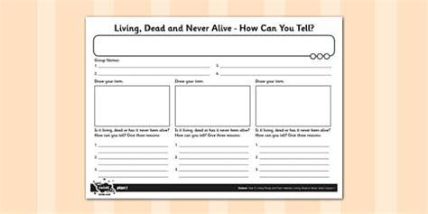 living dead   alive worksheet worksheet