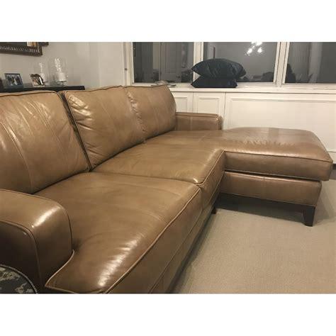 ethan allen sofa with chaise ethan allen arcata tan custom sectional sofa w chaise