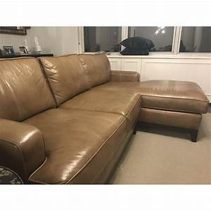 Ethan allen arcata tan custom sectional sofa w chaise for Ethan allen sectional sofa with chaise