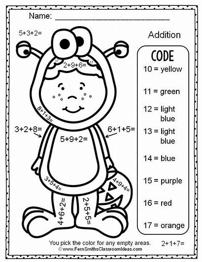 Halloween Addition Number Addends Three Worksheets Numbers