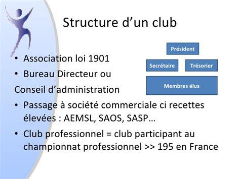 bureau association loi 1901 les relations publiques dans les clubs sportifs