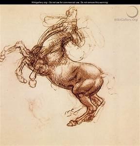 Rearing Horse 1483-98 - Leonardo Da Vinci - WikiGallery ...
