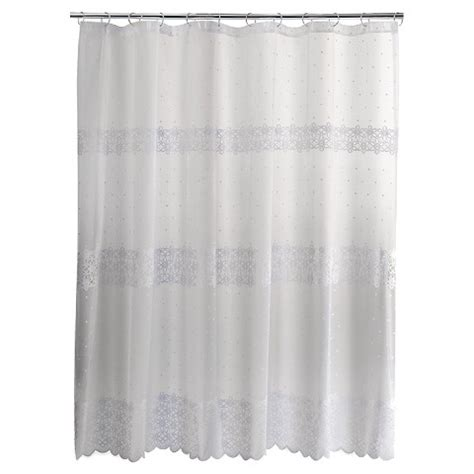 eyelet embroidered lace shower curtain white target