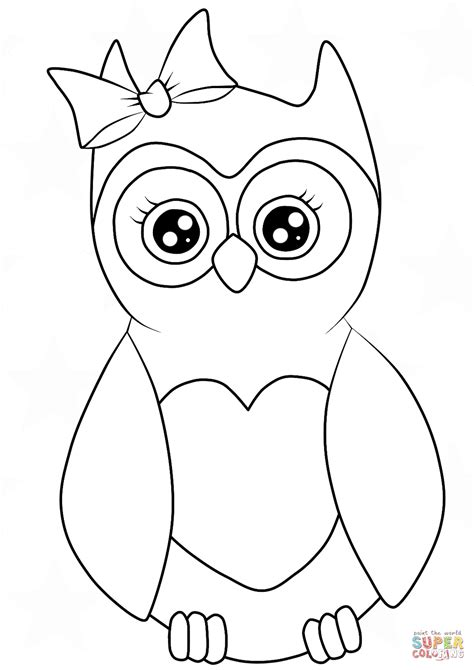 Coloring Owl by Cutest Owl Coloring Page Free Printable Coloring