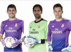 Real Madrid goalkeepers Iker Casillas, Diego López, and