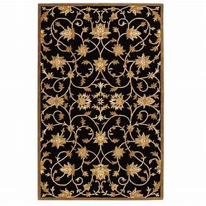 Home Decorators Collection Paloma Black/Gold 8 ft. x 11 ft ...