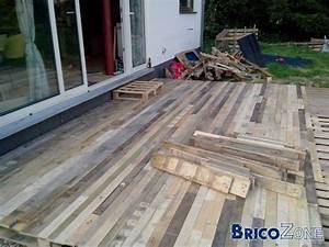 Terrasse Avec Palette : terrasse et pergola en palette et bois de r cup ration terrasse en bois ~ Melissatoandfro.com Idées de Décoration