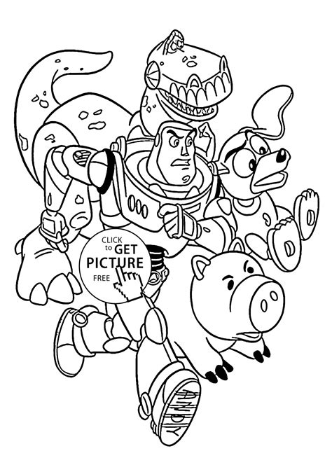 Rescue from Toy story coloring pages for kids printable