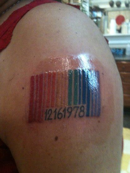 barcode tattoo designs ideas  placement