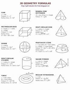 Image Result For Basic Geometry Formulas Geometry