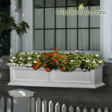 prestige window box white vinyl window boxes window