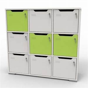 Meuble Casier Blanc : vestiaire casier bois meuble vestiaire design professionnel bureau ~ Teatrodelosmanantiales.com Idées de Décoration