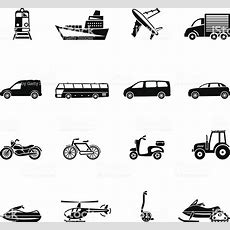 Black And White Forms Of Transportation Cartoons Or Emojis Stock Vector Art & More Images Of