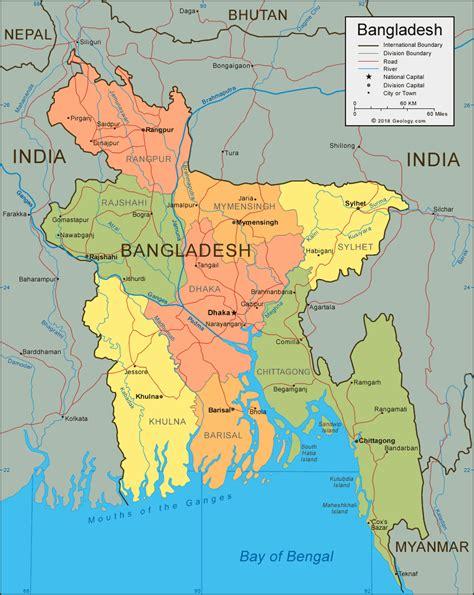 bangladesh map  satellite image