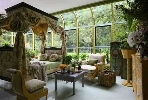 garden room interior decoration winter garden with rich interior decor