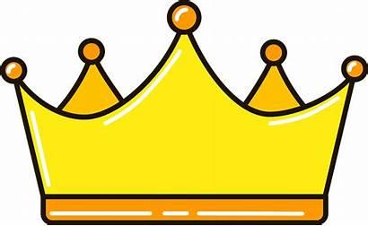 Crown Queen Clipart Golden Transparent Creazilla Princess