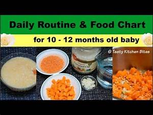 6 Month Diet Chart Daily Routine Food Chart For 10 12 Months Old Baby L