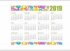 Printable Calendar 2019 Pdf, Word, Excel Template