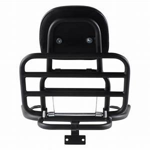 Prima Rear Rack  Backrest Black   Vespa Lx50 And 150 Scooterworks Usa