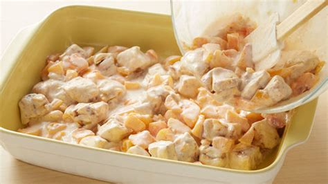 Cinnamon Roll Peach Pie Breakfast Casserole Recipe