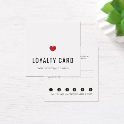 elegant white red heart beauty salon loyalty card zazzle