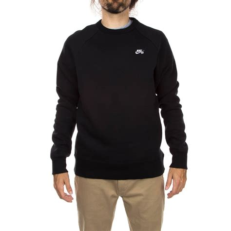 nike sb sweater nike sb icon crew fleece sweatshirt black white