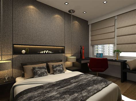 Small Master Bedroom Design Singapore by Singapore Condominium Master Bedroom Interior Design By
