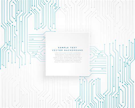 Vector Technology Blue Circuit Diagram Background
