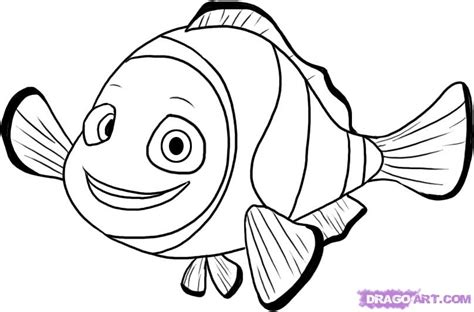 How To Draw Nemo From Finding Nemo, Step By Step, Disney