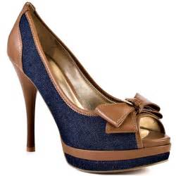 Denim Shoes Women Heels