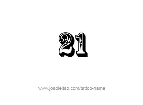 Twenty One21 Number Tattoo Designs  Page 2 Of 4