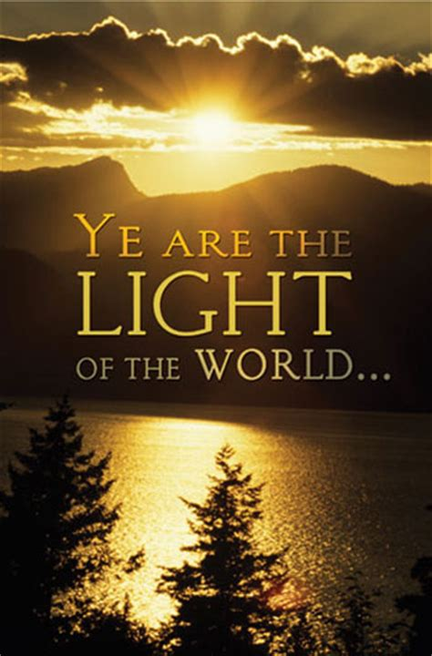 the light of the world church ye are the light of the world bulletin my healthy church