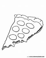 Pizza Coloring Pages Hut Pepperoni Cheese Sheet Template Drawing Printable Pepporoni Slice Cartoon Printables Cheesy Popular Activity sketch template