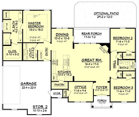 House Plan #1421075 3 Bdrm, 1,769 Sq Ft Traditional Home