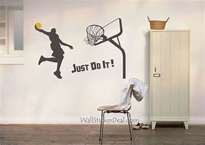 Basketball wall decals 2017 grasscloth wallpaper for Basketball wall decals