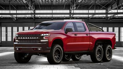 Chevy Silverado 6x6 by 2019 Hennessey Goliath 6x6 Is A 375 000 Six Wheeled