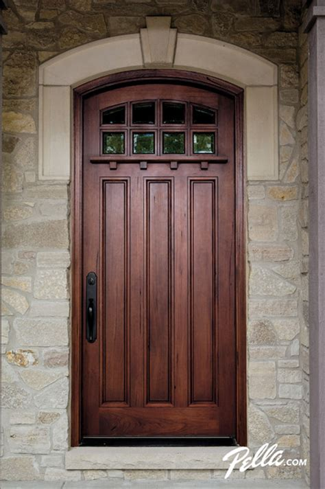 pella architect series craftsman collection wood entry