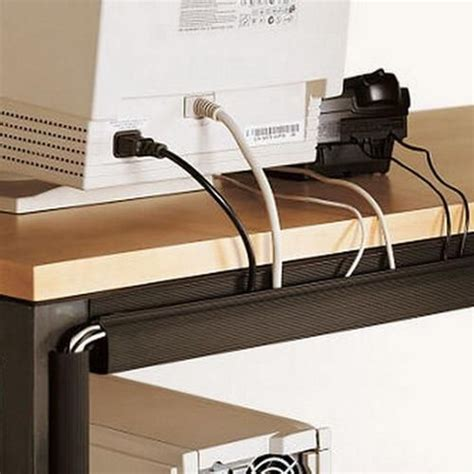 hide cords on desk 63 best office images on pinterest cable management