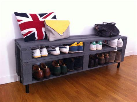 meuble palette bois meuble chaussures fabriqu 233 224 partir de palettes en bois decoration woods and house