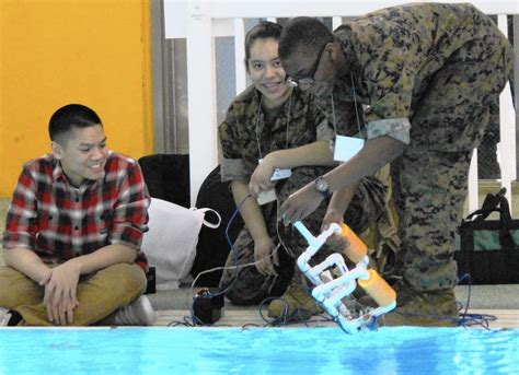 Students Robots Test The Waters At Naval Station Great