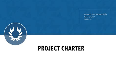 project charter template  project management templates