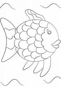Ausmalbild Regenbogenfisch Vorlage Ausmalbilder